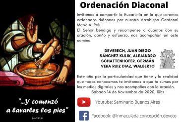 Ordenaciones Diaconales 2020
